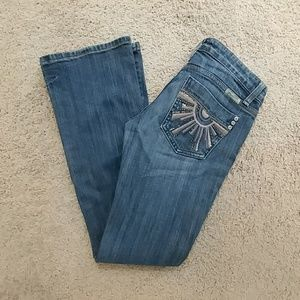 Miss Me Jeans with Embroidered Pocket Size 26